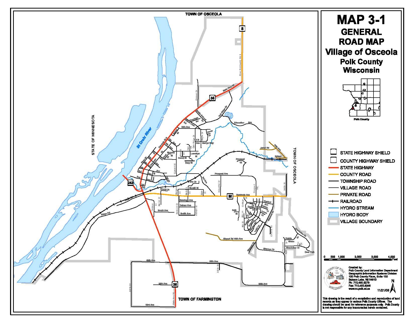 Osceola Maps Osceola Wisconsin – Road Map Wisconsin